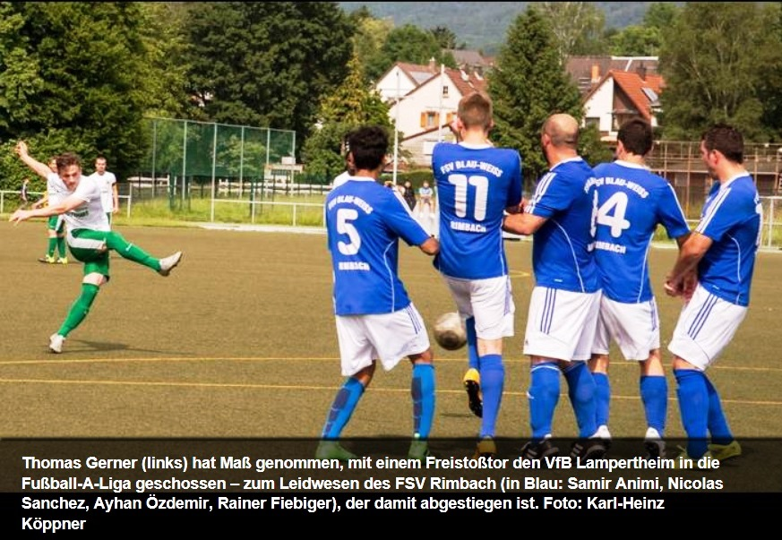 Fsv Scheitert In Der Relegation Am Vfb Lampertheim Fsv Rimbach